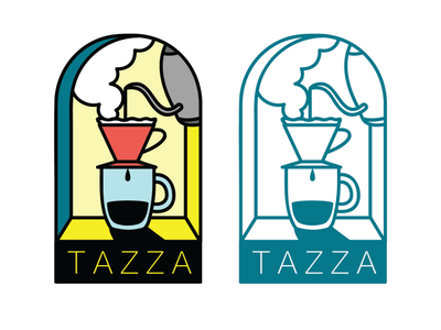 Daily Logo Challange 5/50 TAZZA pourover coffee tazza design vector branding logo illustrator illustration dailylogochallenge