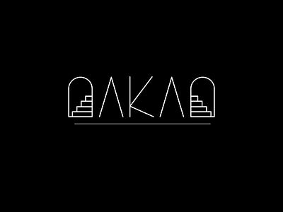 Daily Logo Challange 6/50 OAKAO letters illustrator fashion typography logo branding vector illustration design dailylogochallenge