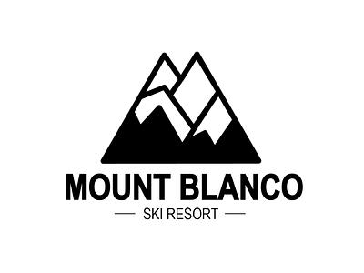 Daily Logo Challange 7/50 Mount Blanco illustrator logo branding vector illustration design dailylogochallenge