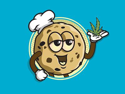 Stoner Cookie character cookie illustrator branding vector illustration