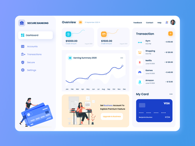 Dashboard FREE TEMPLATE drawing inferface uiux uikit template securebanking banking dashboard figma design free figmadesign figma app minimal illustration icon graphic design flat design