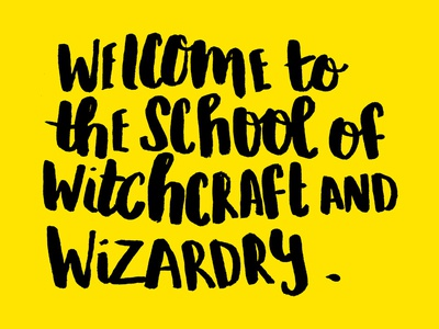 Welcome to Hogwarts!
