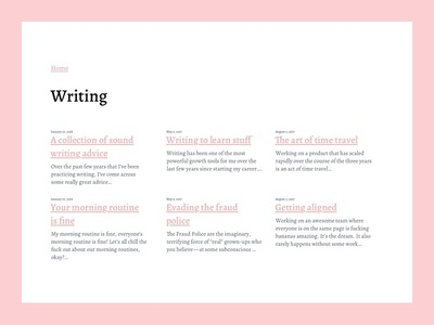 Writing Index