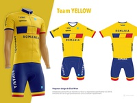 Romania Cycling Kit - YELLOW
