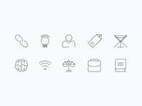 (3px) Stroke Icons Created for a Landing Page