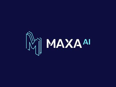 Maxa Logomark + Logotype grid concept illustration flat design graphic maxa case study typgraphy icon logo logomark logotype identity branding brand