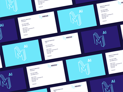 Maxa Business Cards composition grid brand identity branding business cards collateral logo logo design icon linework typography graphic design identity illustrator vector flat 3d concept