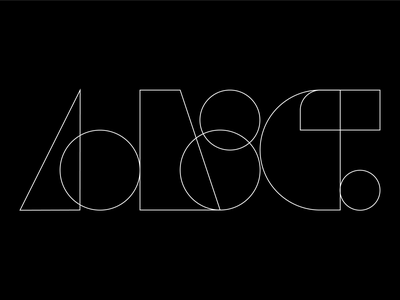 A B C 36 days of type brand identity composition grid branding concept abc typography logo logomark logotype forms illustration illustrator iconography flat vector shapes letterforms design graphic 36dot 36daysoftype