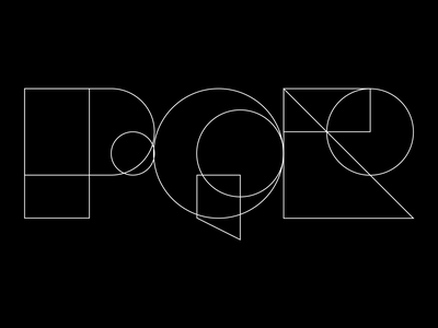 PQR type typeface typography p q r logo logomark logotype letterforms illustrator iconography graphic font flat design grid concept composition branding brand identity brand guidelines 36dot 36 days of type 36daysoftype