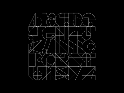 A 2 Z poster vector typography type typeface alphabet logo logomark logotype letterforms illustrator iconography grid graphic font flat design abstract concept composition 36 days of type 36dot 36daysoftype