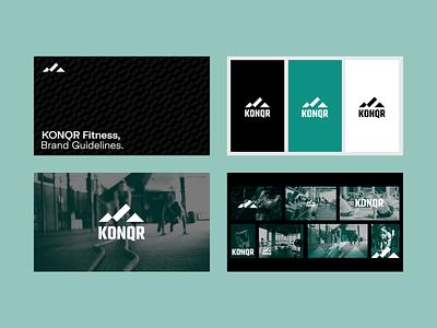 KONQR Fitness illustrator ui ux typography iconography vector illustration icon guidelines fitness brand design logo logomark logotype graphic design designer
