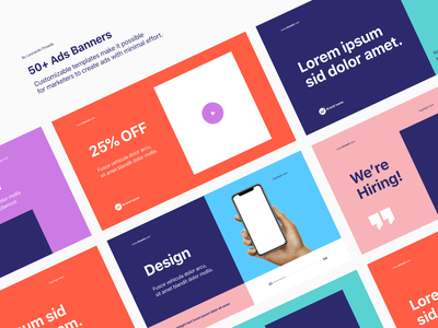 Presentation Templates video trend template templates skech presentations presentation post mockups pitch instagram facebook customize color palette collection clean branding banner ad ads