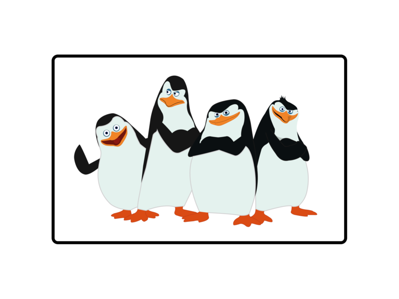 Penguins from Madagascar Illustration madame flat illustration flatdesign dash wave madagascar from penguins branding illustration design vector and flat clean