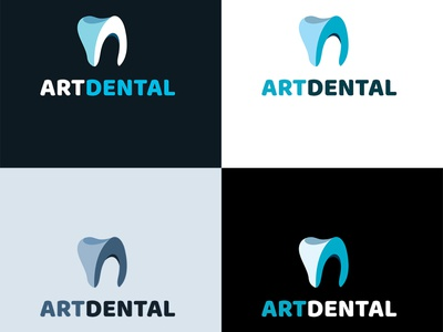 Logo for ArtDental branding letterdesign creative brandin adobe illustrator illustration logo design clinic dental