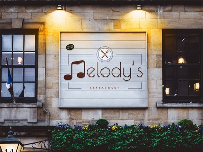 "Logo for ""Melody's Restaurant"" adobe illustrator idea logodesign branding design illustration creative brandin design art logo restaurant"
