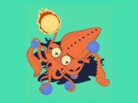 Octopus Plays Dodgeball !