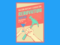 Renovation Poster - Saigon Outcast Artwork