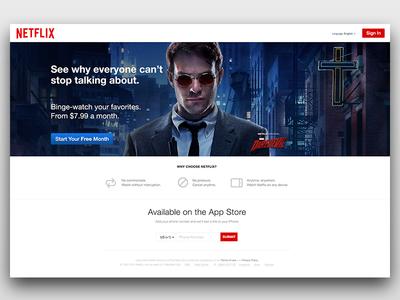 New Netflix Homepage branding identity website responsive netflix movies television series subscriptions design