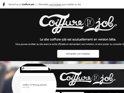 Coiffure Job - Landing page