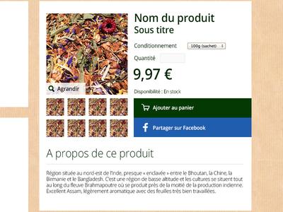 Product detail e-shop
