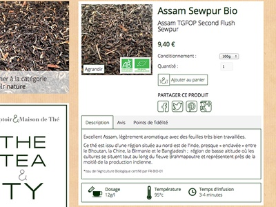 Tea e-shop product
