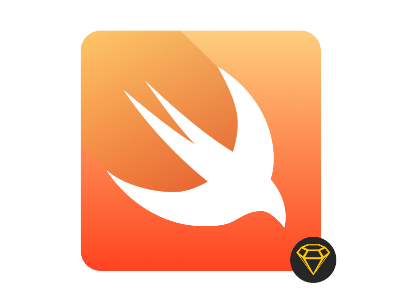 Swift Icon with sketch 3 - free download sketch sketch3 icon swift ios