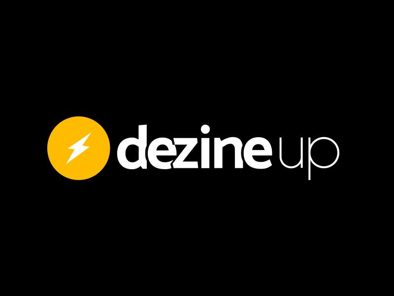 DezineUp logo up flash design logo