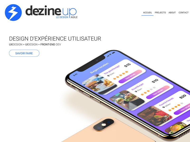 Portfolio Homepage web design webdesign uidesign ui uxdesign ux ios mockup responsive web portfolio website