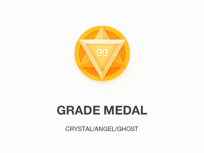 Medal Icon ghost angel grade mobile app medal icon