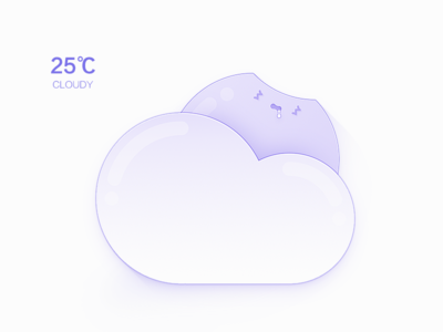 Weather Man / Cloudy On Night night cute cloudy weather