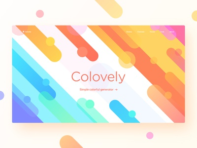 Colovely orange purple blue green yellow web ui gradient colorful clean