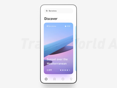 Travel World App Animation light animation app minimal interactive ui layout clean travel