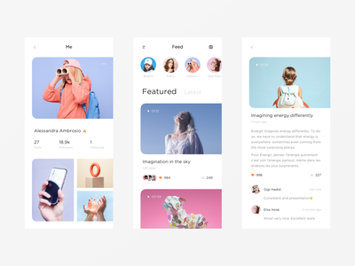 📷 photo video colorful typography light app minimal modern interactive design ui layout clean