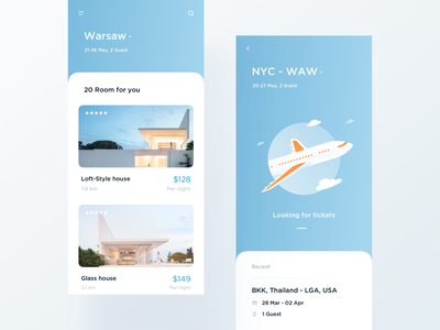 Travel App mobile travel gradient design ui illustration light typography app minimal modern interactive layout clean