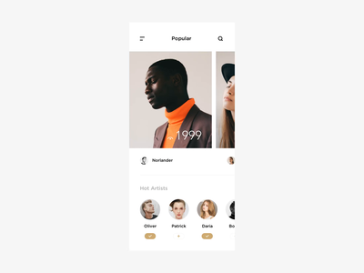 Wave product shop light animation typography app minimal modern interactive ui layout clean