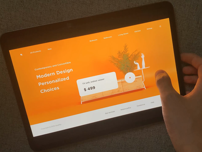 Product page animation web product shop animation typography minimal modern interactive design ui layout clean