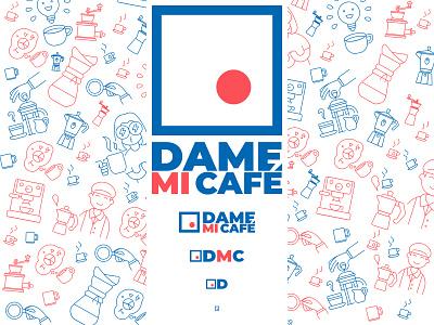 Dame mi Café illustration branding logo coffee