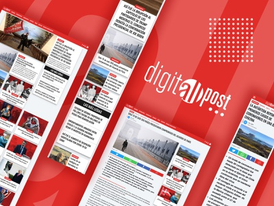 Digitall Post newsroom wordpress theme design news app ux ui user interface web design