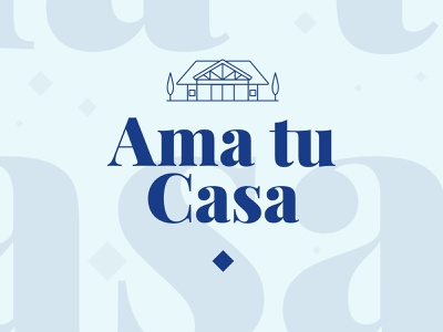 Ama tu Casa Logo house design icon illustration typography branding logo