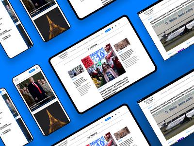 Business Insider México news site wordpress theme ux ui user interface web design design