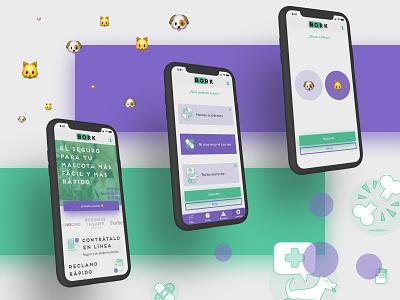 Bork prototype insurtech style guide ux ui user interface web design design