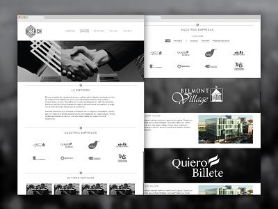 SHCH website web design black  white corporate