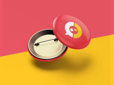 CoExistir yellow pink icon logodesign minimal branding vector visual identity symbol design brand logotype logo
