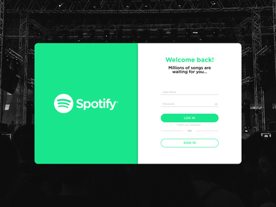 Daily UI #001 Sign up Spotify sing up screen sign up ui signup screen figmadesign figma uidesign daily 100 challenge dailyui daily001 app