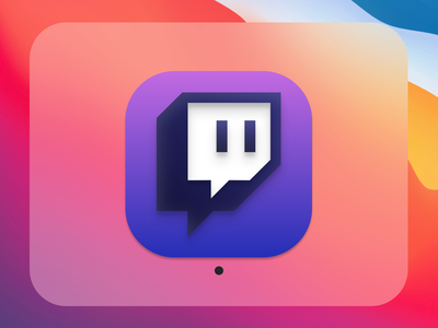 Dayli UI #005 Icon Design - Twitch for MacOS Big Sur macos icon mac iconography icon bigsur apple app ui daily 100 challenge uidesign figmadesign figma