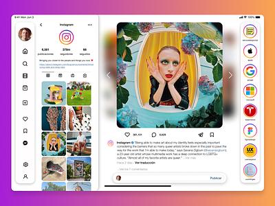 Daily UI  #006 - User Profile ipad instagram apple uiux app ui daily 100 challenge uidesign figmadesign figma