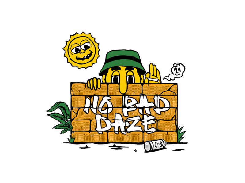 NO BAD DAZE daze streetwear street art graphicdesign illustration design artwork