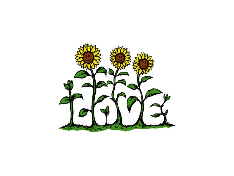 LOVE FLOWER symbol love sketch sunflower streetwear street art graphicdesign illustration design artwork