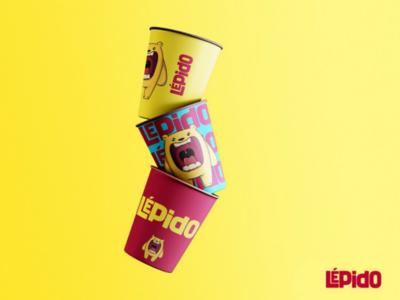 Copos Lépido branding urso ilustração ilustrator desenho marca brand vector graphic design design