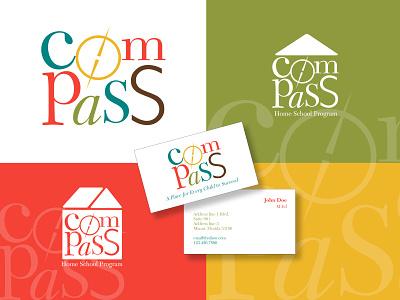 Compass • Home School Logo visual identity designer vector graphic design logodesigns graphicdesign branding logo design logodesign logo
